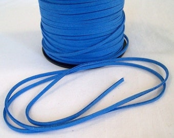 Blue Faux Suede Cord 20 Feet USA Seller