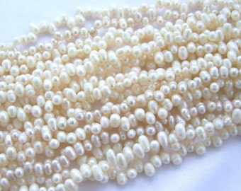 Off White Freshwater Pearls One Strand