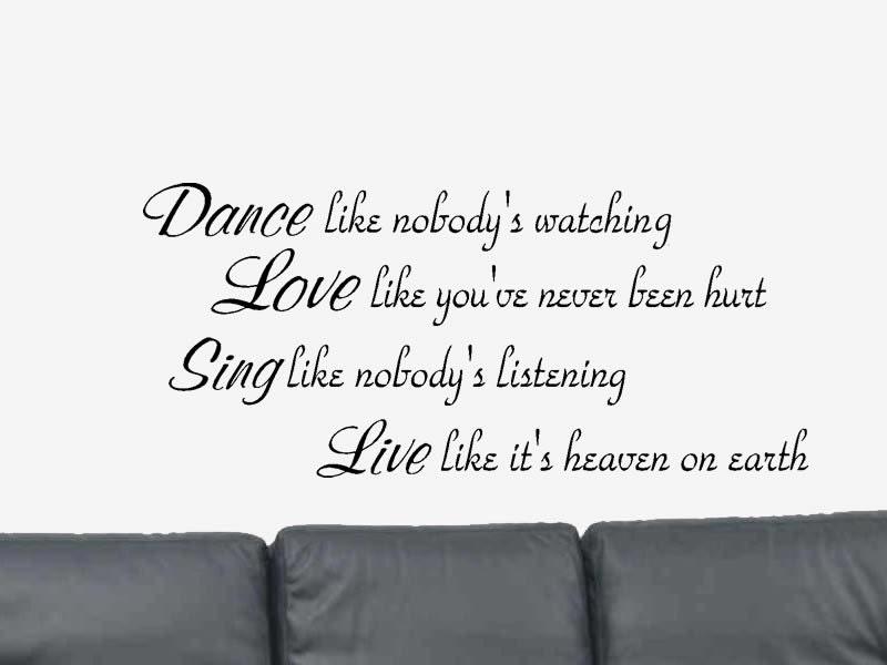 Dance Like Nobody S Inspirational Motivational Vinyl