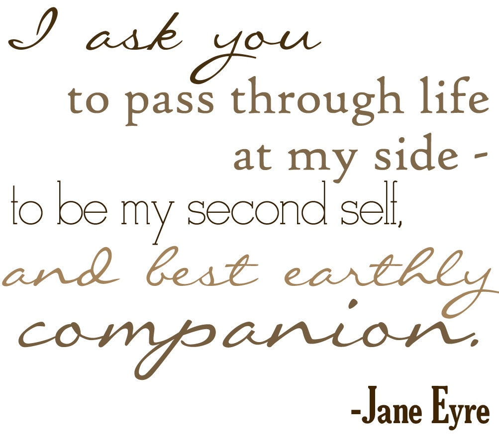 the longing for love in jane eyre by charlotte bronte The depiction of true and pure love in charlotte bronte's jane eyre  to be  thornfield hall, and her testing is to be in terms of that craving for love which she.