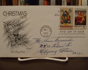 Christmas 1973, Gingerbread Man, First Day Cover,  Washington, DC, by Artmaster