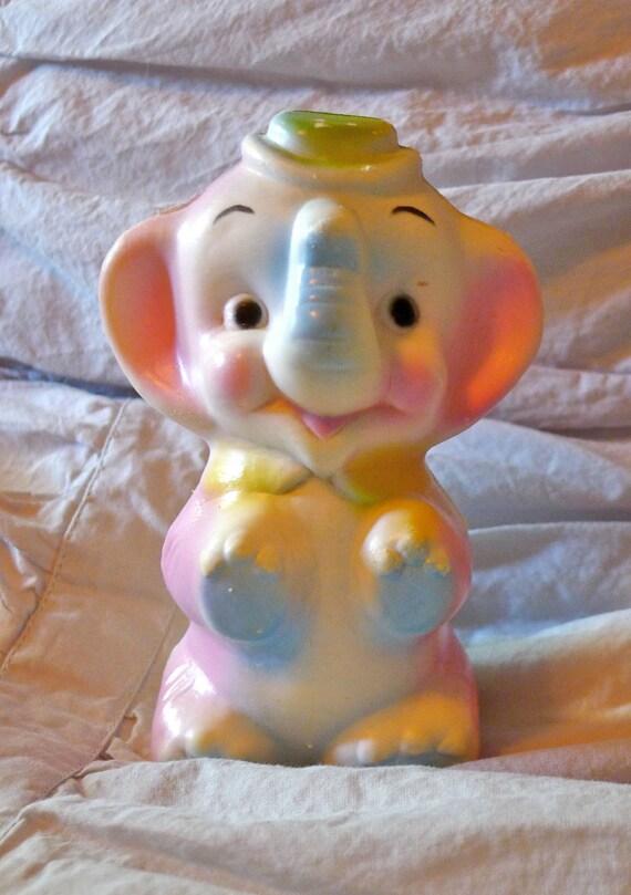 Vintage Baby Elephant Squeaker Toy