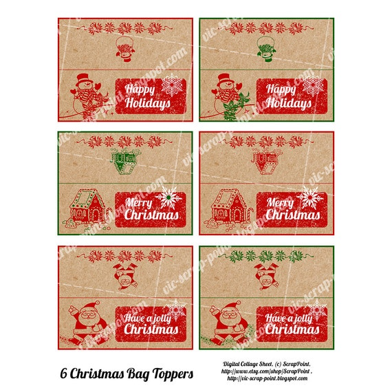 Superb image in christmas bag toppers free printable