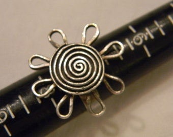 Very Large Fashionable Flashy Beauty 925 Sterling Silver Artsy Flower Ring Size 7.5 #3132