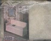 Miniature Upholstered White Sofa - DIY Miniature Kit