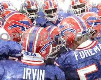 Buffalo Bills Team Art Print 12x18 LE 50 rare