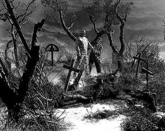 Rare BW Frankenstein Boris Karloff Art Print LE of 50
