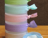 """The """"Pastel"""" Collection - Set of 5 Hair Ties - Hair Tie - Elastic Hair Tie - Hair Twist - Twist Band - Elastic Band"""