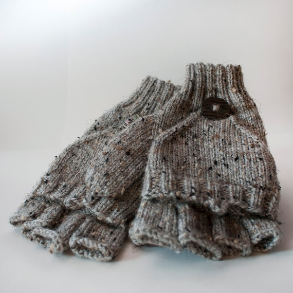 Marble Gray Convertible Gloves for Men