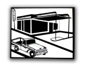 Truck and Diner Canvas
