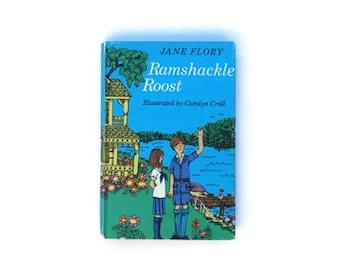 Ramshackle Roost by Jane Flory SALE, 1972, vintage, Blue