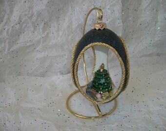 Christmas emu egg ornament