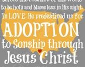 Custom Adoption Art on an 11 x 14 inch - PRINT ONLY