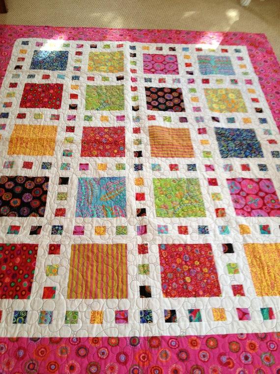 Items Similar To Stunning Modern Handmade Quilt Featuring
