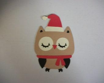Cricut Create a Critter 2 Santa Christmas Owl Die Cut Paper Piecing Scrapbook