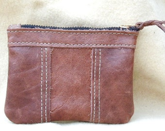 Brown  Buffalo  leather   coin purse....