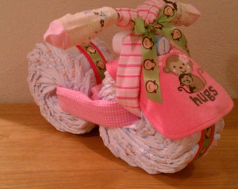 Girl-Monkey Themed Diaper Bike