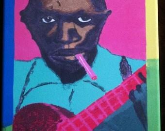 Robert Johnson Portrait by French Quarter Artist Ginger