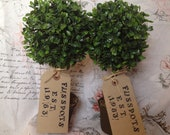 x4 Small Potted Artificial Topiary Trees