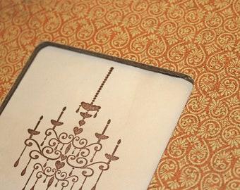 Picture frame, Photo frame, Orange and cream frame, Orange photo frame