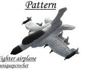 Amigurumi Pattern Crochet PDF - Fighter Airplane