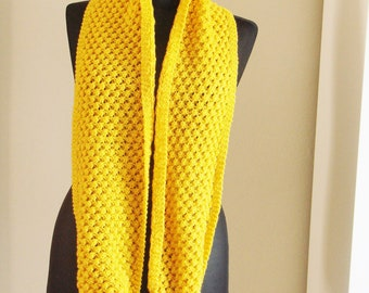 free worldwide shipping, handmade knit yellow neckwarmer, stole, scarf, shawl, cowl ready to ship