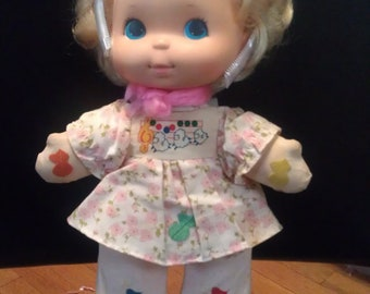 """Vintage 1974 Sweet Melody LOVES NOTES doll musical 13"""" doll by MATTEL"""