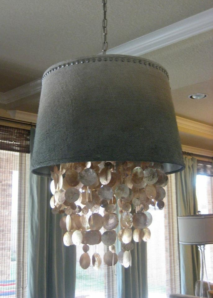 Dripping Capiz Shell Chandelier Shade Custom By BoutiqueBoost