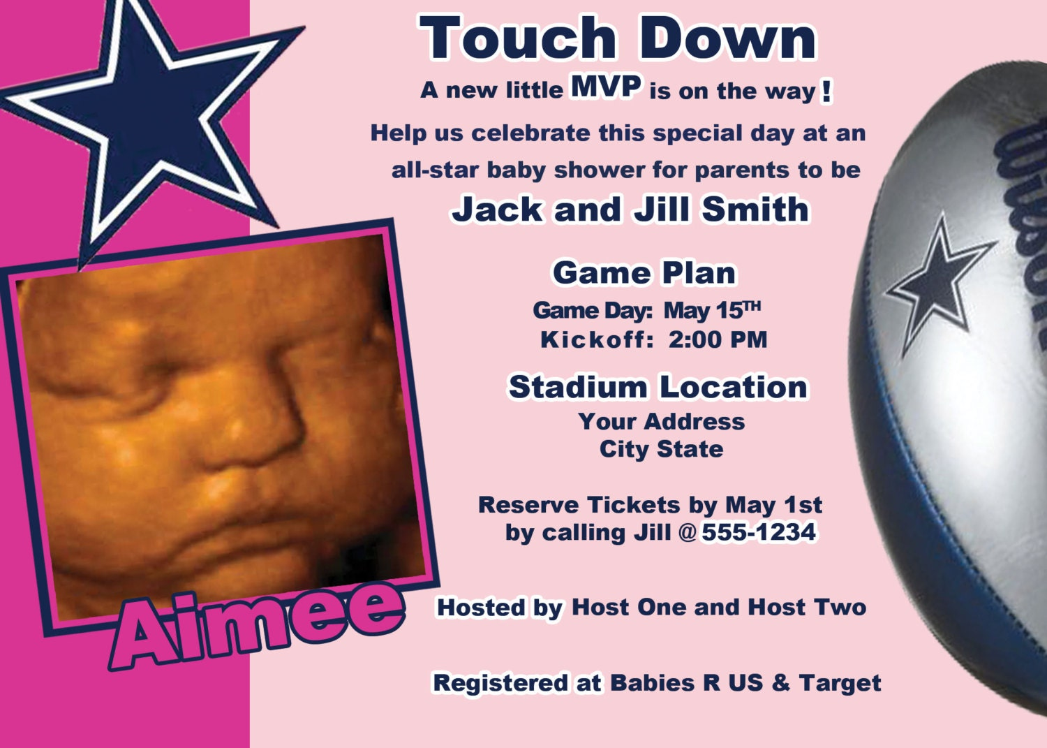 Dallas Cowboys Baby Shower Invitations absolutely amazing ideas for your invitation example