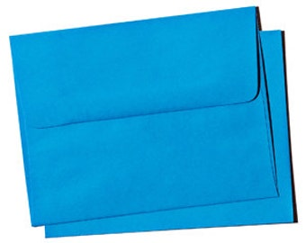 25 A6 Lunar Blue Envelopes - for 4x6 birthday announcement and invitation  Fun Bright color