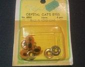 Fibre-Craft Amber 12mm Crystal Cat's Eyes - 4 pcs.