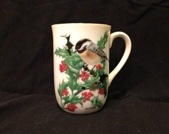 Vintage Otagiri Chickadee Mug by Walt Cude