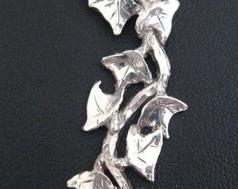 Ivy, pendant, sterling silver