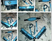 Hand stitched pony breast collar and headstall set