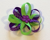 Witchy Flower Bow - 3 inch bow