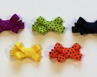 Halloween Collection Clippie Set - 1 3/4 inch bows