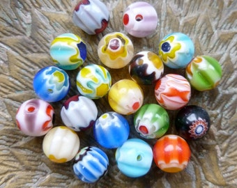 20x Glass Lampwork Bead For Jewelry Making P74
