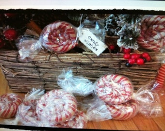 Primitive red candies peppermint prims set of 4
