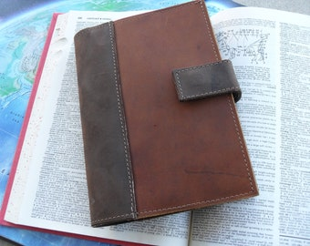 "Handmade refillable leather journal  - ""The Scholar"""