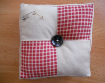 Reversible Pincushion, Rustic Decor, Country Decor