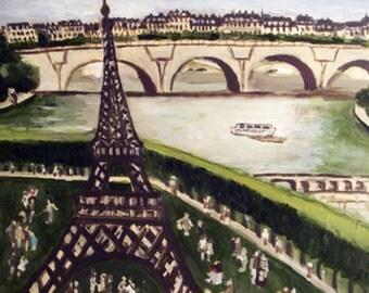 Tour de Eiffel: original painting by Michelle Winters