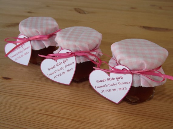 Set Of 12 Baby Shower Favors Jam Jar Favors Christening