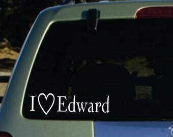 Twilight i love edward  vinyl sticker