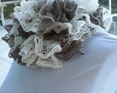 SALE....FREE or REDUCED Shipping..... Neutral tone Scarf