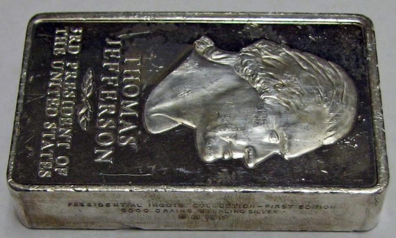 5000 Grain Solid Sterling Silver Ingot Bar Danbury Mint 10 44