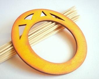 Geometric Bracelet ,Yellow  Wood Geometric Bangle ,neon Wood Bracelet,  ,Geometric Jewelry