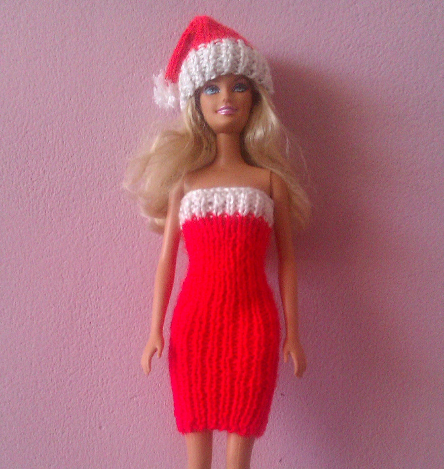 Christmas barbie clothes accessories fashion doll knit dress