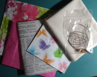 Paper Fabric Kit - Flying in Pink