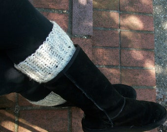 Cream Boot Socks  , Boot Cuffs ,  Chunky Boot Sock  ,  Boot Warmers , Boot Liners