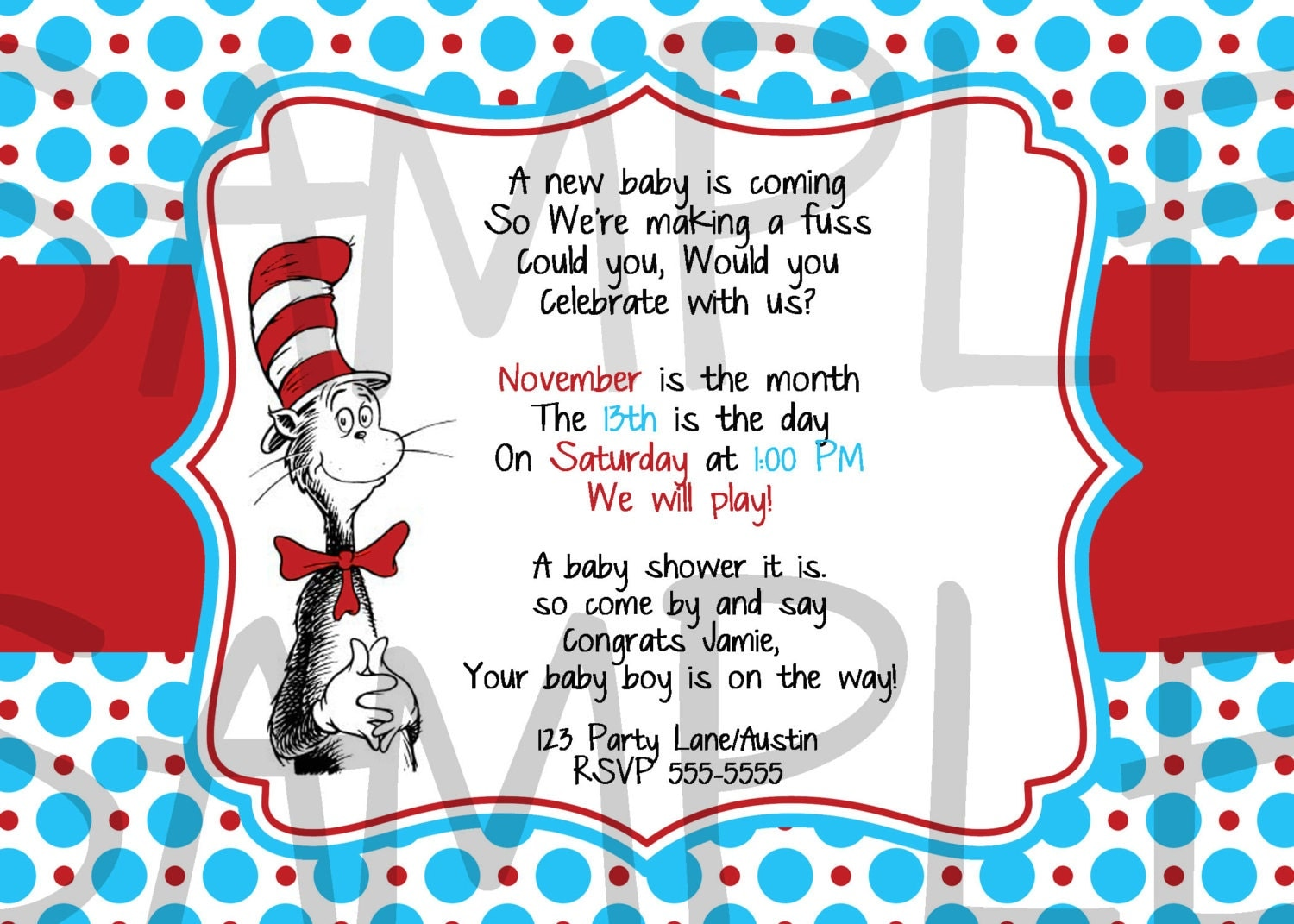 Dr Seuss Baby Shower Invitations Printable Free was very inspiring ideas you may choose for invitation ideas